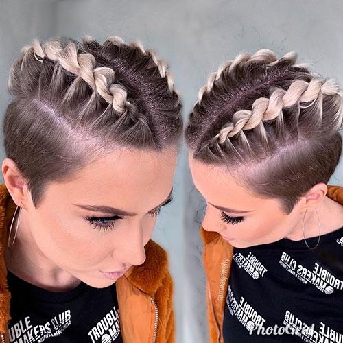 Fresh 30 best french braid short hair ideas 2019 short haircut Short Hair Styles With Braids Ideas