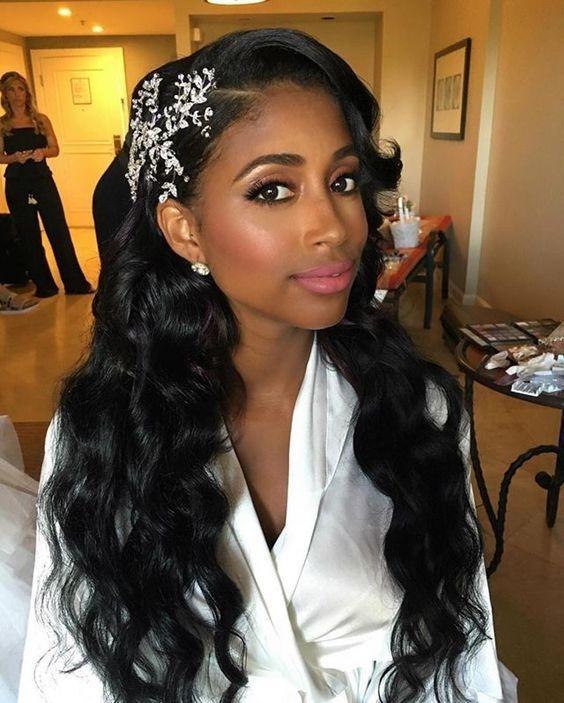 Stylish 43 black wedding hairstyles for black women in 2020 black African American Girl Hairstyles For Weddings Designs