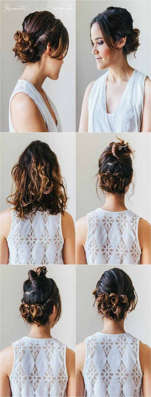 Awesome 20 incredibly stunning diy updos for curly hair Short Curly Hair Updo Styles Choices