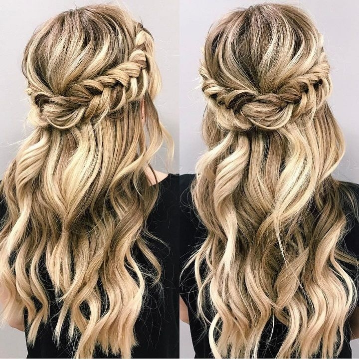 Awesome braid half up half down hairstyle hair styles long hair Bridal Hairstyles Half Up Half Down With Braids Choices