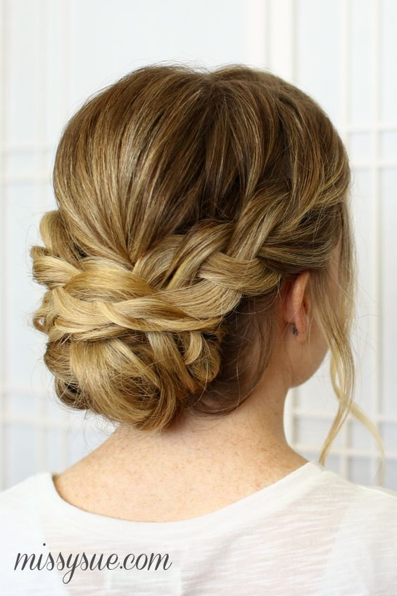 Best 25 chic braided updos for medium length hair hairstyles Prom Updos For Medium Hair With Braids Inspirations