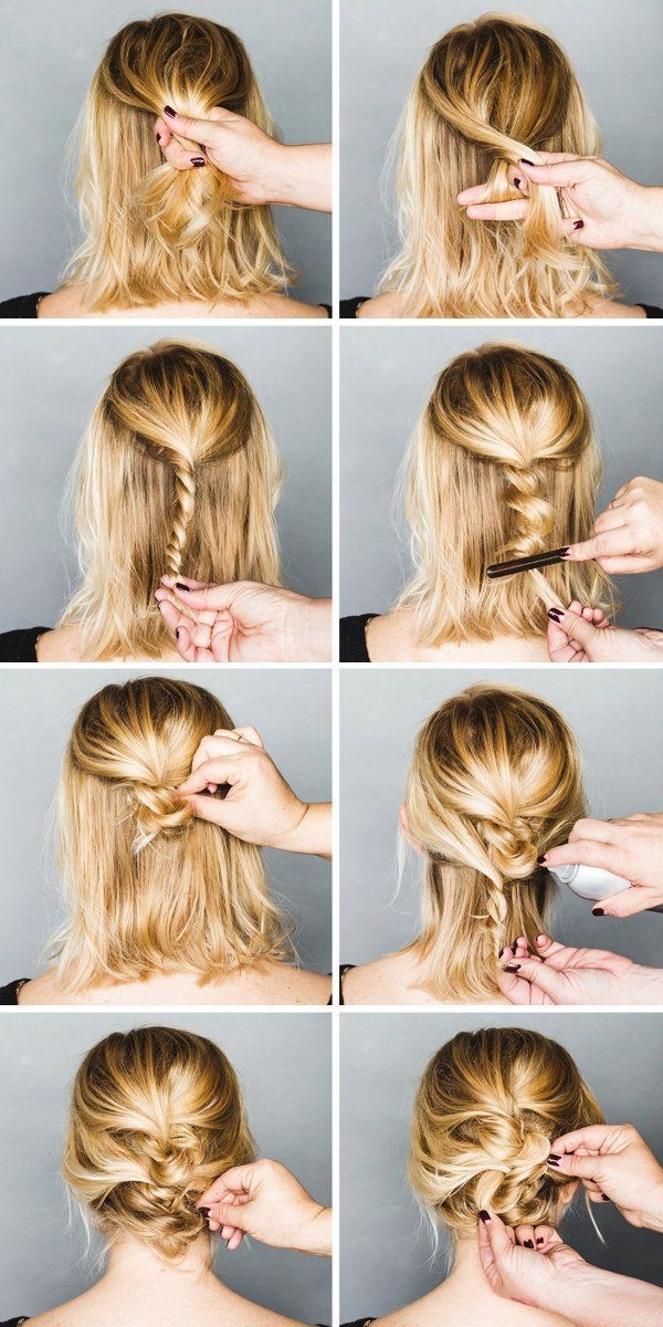 Best easy formal hairstyles for short hair hairstyle tutorials Easy Hairdos For Short Hair Pinterest Inspirations