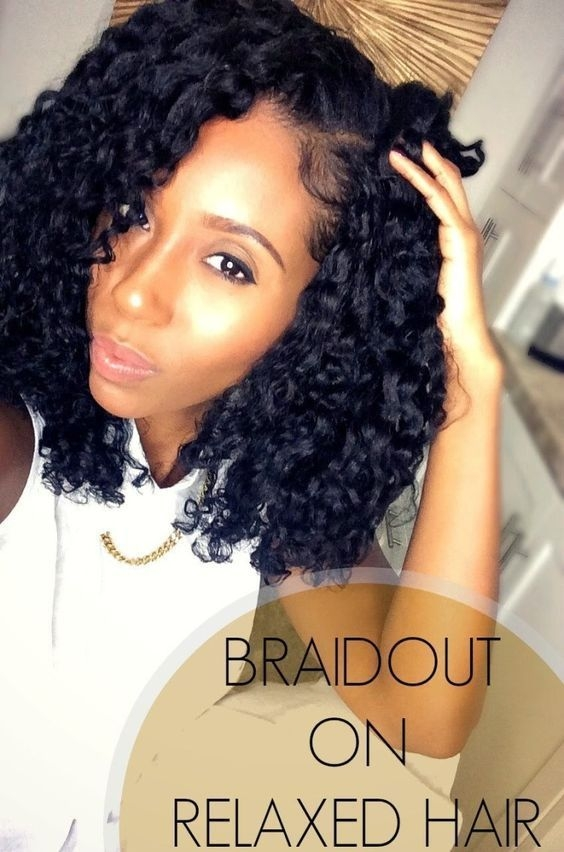 braid out your relaxed hair using this demo from Braid Out Styles Relaxed Hair Ideas