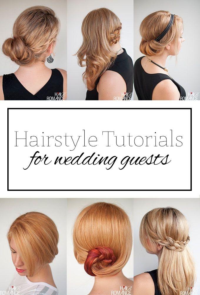 Elegant top 5 hairstyle tutorials for wedding guests hair romance Wedding Guest Hairstyles Diy Short Hair Ideas