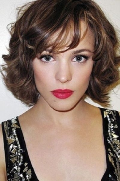 Stylish short hairstyles curly bob with bangs for long face women Short Hairstyles For Thick Hair Long Face Choices