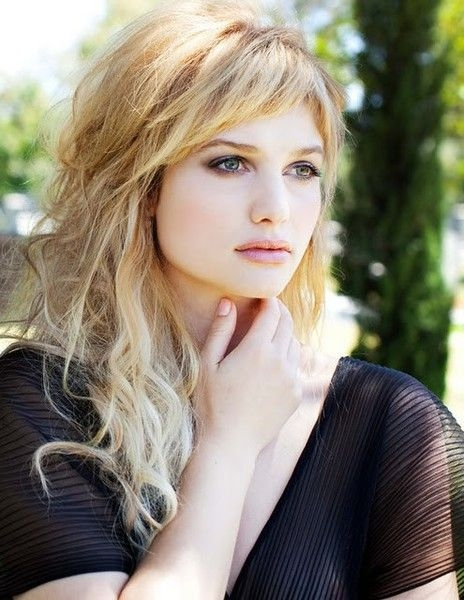 Trend 10 kinds of bangs and ways to wear them glam radar long Long Hair With Short Layers And Side Fringe Ideas