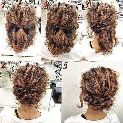 Trend romantic easy updo hairstyle tutorial for short hair sweet Hairstyles Tutorials Short Hair Inspirations