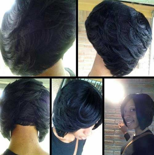 Trend short layered haircuts for black women 500503 bob African American Layered Bob Hairstyle Photos Designs