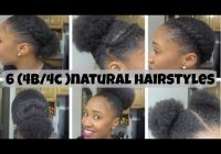 10 quick amp easy natural hairstyles under 60 seconds for Quick Styles For Short Black Hair Ideas