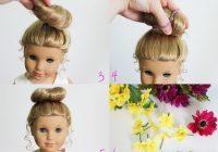 american girl doll hairstyle bun flower crown how pretty Cool Hairdos For American Girl Dolls