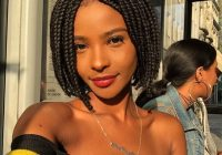 Awesome 105 best braided hairstyles for black women to try in 2020 Short Hair Braid Styles For Black Women Ideas