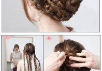 Awesome 40 braided hairstyles for long hair Long Hair Braid Updo Tutorial Ideas