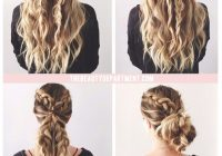Awesome beachybohemian double braid and beachy curls updo avedaibw Cute Braid Styles For Thick Hair Choices