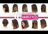 Best 10 quick and easy hairstyles for short hair patry jordan Cute Easy Hairstyles For Short Hair For School Inspirations