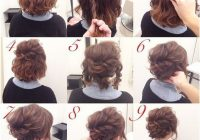 Best 23 cute and easy updos for short hair 2018 short hair up Easy Updos For Short Hair Casual Inspirations