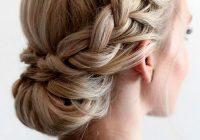 Best 42 braided prom hair updos to finish your fab look braided Braid Bun Hairstyles For Medium Hair Ideas