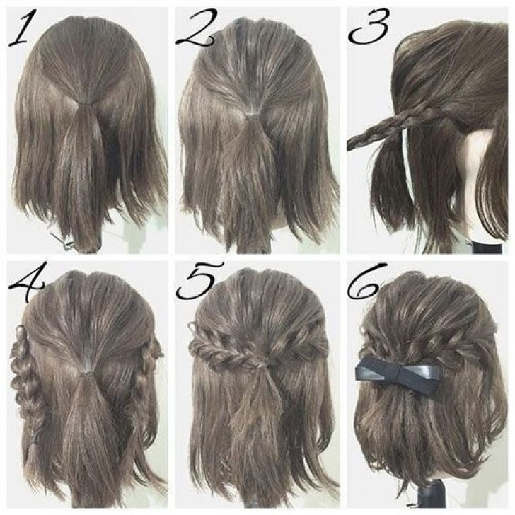 Permalink to 10 Elegant Simple Hairstyle For Short Hair Step By Step Ideas