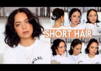 Best how i style my short hair very easy youtube Styling Short Hair Choices