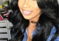 Best middle part wavy long hairstyles wigs for black women African American Long Black Hairstyles Ideas