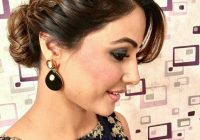 Best pin on hina khan Simple Hairstyle For Short Hair On Saree Choices