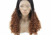 Best us 730 ombre brown african american micro braided lace wig lace front synthetic braided wigs kinky curly hair heat resistant wigsynthetic African American Micro Braid Wigs