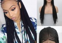 braids lace front wigs for black women glueless heat resistant long black synthetic micro twist braid african american braided wigs braided lace wigs African American Micro Braid Wigs Ideas