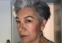 Elegant 21 chic grey hairstyles ideal for over 60 women hairstylecamp Short Haircuts For Grey Hair Inspirations