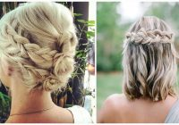 Elegant 27 braid hairstyles for short hair that are simply gorgeous Plait Styles For Short Hair Ideas