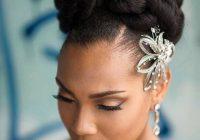Elegant bride wedding hair african american hair natural hair Wedding Hairstyles Natural African American Hair Ideas