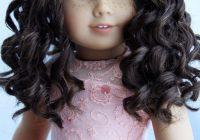 Elegant custom american girl doll mia dark brown curly hair hazel Cute Hairstyles For American Girl Dolls With Curly Hair Designs