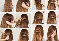 Elegant hairstyles with easy step step braids and stylish tumblr Hairstyles Braids Tumblr Easy Inspirations
