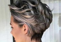 Elegant pin on grey hair Short Gray Hair Styles Inspirations