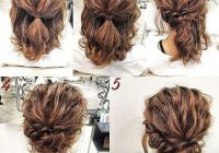 Elegant updos for short curly hair simple prom hair hair styles Cute Easy Hairstyles For Short Wavy Hair Ideas