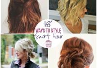 Fresh 18 easy styles for short hair Short Hair Cute Styles Choices