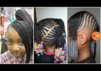 Fresh lil girl braiding hairstyles little black girl natural hair styles Girl Black Braids Hairstyles Inspirations