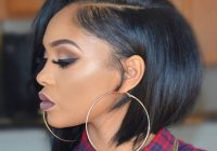 jun short hair styles for round faces front lace wigs Bob Haircuts For African American Hair Ideas