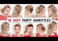 Stylish 10 easy wedding party hairstyles for short medium and long Hairstyle For Short Hair For Party Step By Step Ideas
