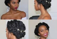 Stylish 21 chic and easy updo hairstyles for natural hair page 2 Updo Hairstyles Natural African American Hair