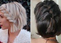 Stylish 23 quick and easy braids for short hair stayglam Easy Braided Hairstyle For Short Hair Ideas