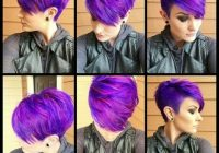 Stylish 29 trendsetting purple hair color ideas for short hair for a Short Colored Haircuts Inspirations