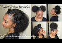 Stylish 5 quick easy hairstyles for shortmedium natural hair Easy Hairstyles For Short Natural Black Hair Ideas