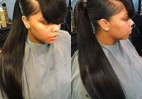 Stylish black girl ponytail styles 26 ponytail hairstyles for black African American Ponytail Hairstyles With Bangs Designs