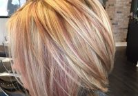 Stylish blonde rose gold highlights red hair with blonde Short Brown Hair With Blonde And Red Highlights Choices