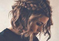 Stylish braids curly hair cute short hair tumblr hair image Short Brown Hair Ideas Tumblr Inspirations