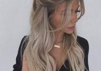 Stylish half up half down hairstyle hairstyles hair styles long Half Up Half Down Braided Hairstyles Pinterest Ideas