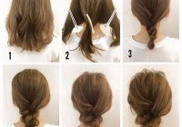 Stylish messy bun for short hair im sure id never be able to do Short Hair Bun Styles Inspirations