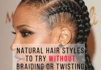 Stylish natural hair styles to try without braiding or twisting Braid Style For Natural Hair Ideas