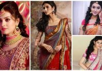 Stylish party hairstyles for medium hair with saree Party Hairstyle For Short Hair With Saree Choices