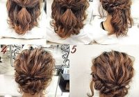 Stylish pretty updo tutorial simple prom hair hair styles short Cute Updos For Short Hair Tutorials Inspirations