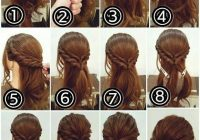 this step step easy hairstyles really are fab Hair Braids Step By Step Pinterest Choices